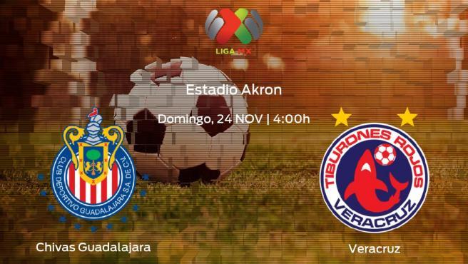 Jornada final de la Liga MX de Apertura: previa del encuentro Chivas Guadalajara - Veracruz