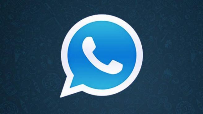 Logo de Whatsapp azul.