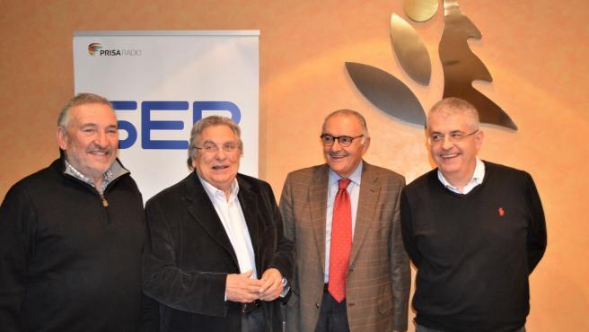 Los exconsellers de Agricultura Francesc Xavier Marimon, Antoni Siurana, Josep Grau y Joaquim Llena.
