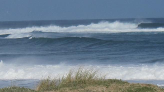 Olas, temporal, viento, litoral, Galicia, mar