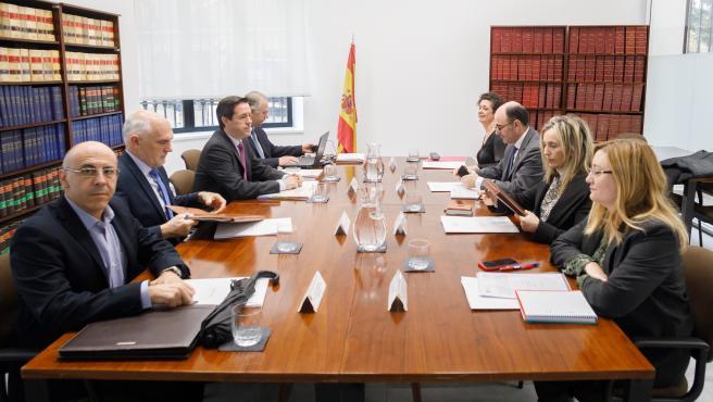Reunión de la comisión formada por el Gobierno de Navarra y el Organismo Estatal de Inspección de Trabajo y Seguridad Social