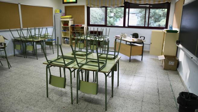 Aula de Primaria del Colegio de Educación Infantil y Primaria (CEIP) 'Joaquín Costa' de Madrid.