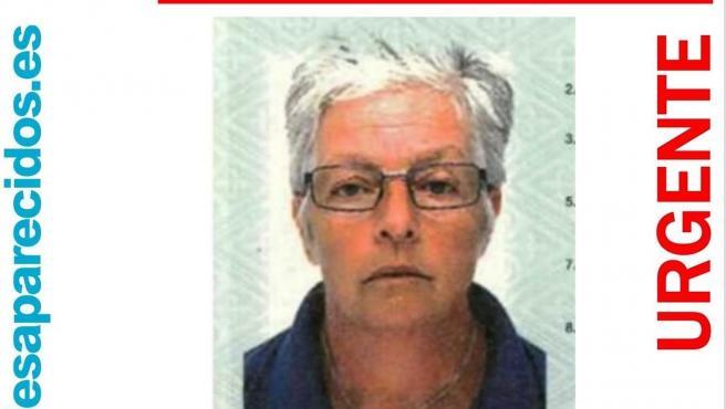 Mujer desaparecida el pasado martes en l'Alfàs del Pi, Alicante.