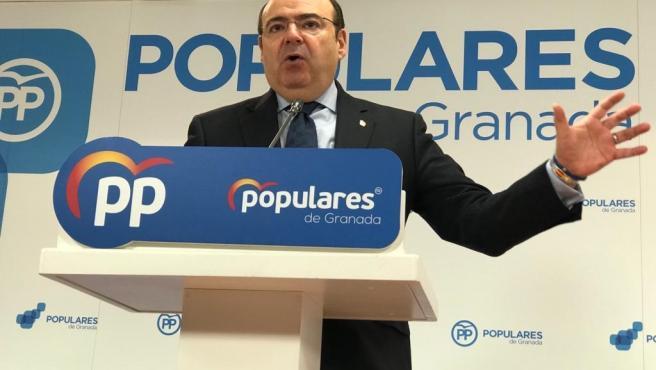 El presidente provincial del PP, Sebastián Pérez, en un imagen de archivo