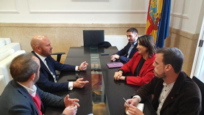 Encuentro de la consellera de Participación, Transparencia, Cooperación y Calidad Democrática, Rosa Pérez Garijo, con el presidente de la Diputación de València, Toni Gaspar