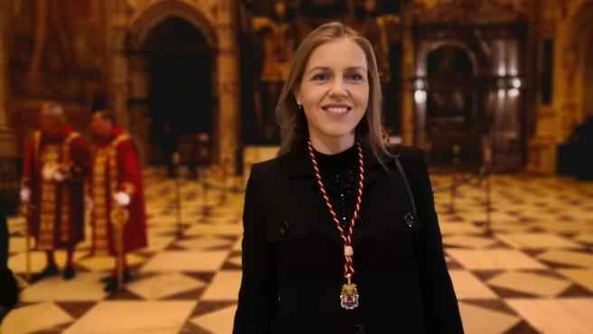 La portavoz del Grupo Municipal Vox en el Ayuntamiento de Sevilla, Cristina Peláez