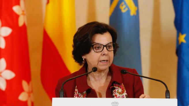 María Jesús Álvarez, en una rueda de prensa.