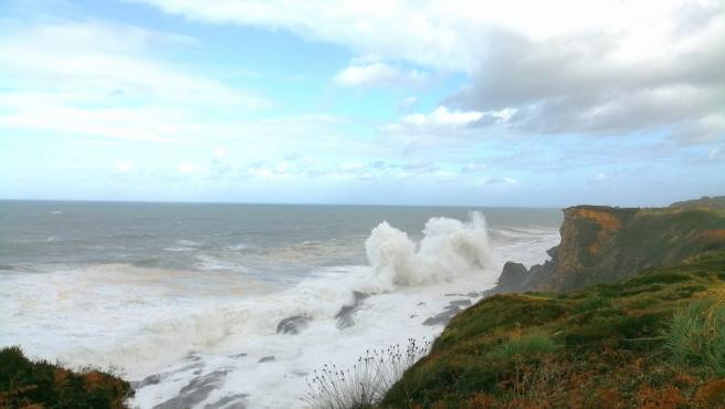 Temporal y viento en Cantabria