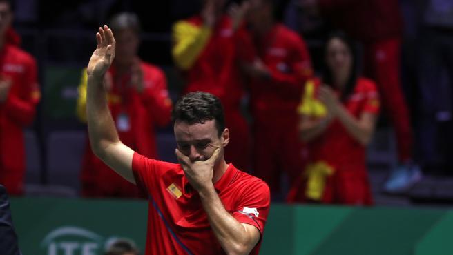 Roberto Bautista, en la final de la Copa Davis.