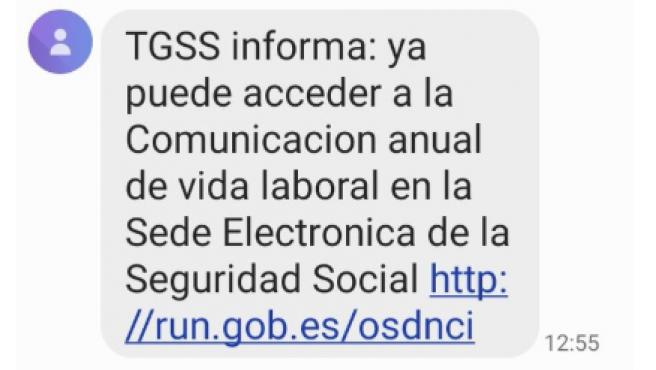 El mensaje de la TGSS