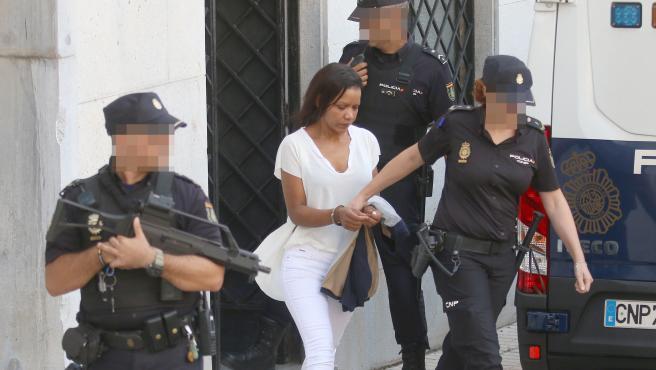 (AL).-090919.- Llegada de Ana Julia Quezada a la Audiencia Provincial de Almería, para la celebración de la primera sesión del juicio por el asesinato del niño Gabriel Cruz Ramírez. FOTO: (RAFAEL GONZÁLEZ)
