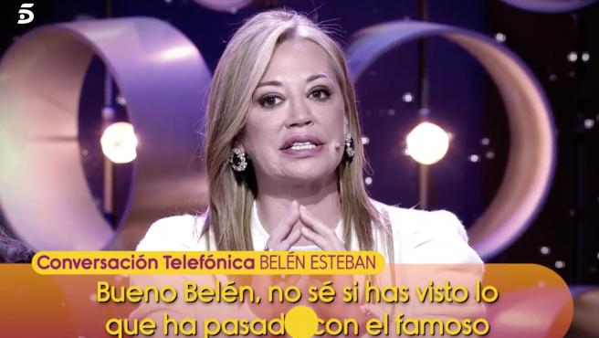 Belén Esteban niega la relación de su familia con el presunto suplantador del 'caso Cantora'.