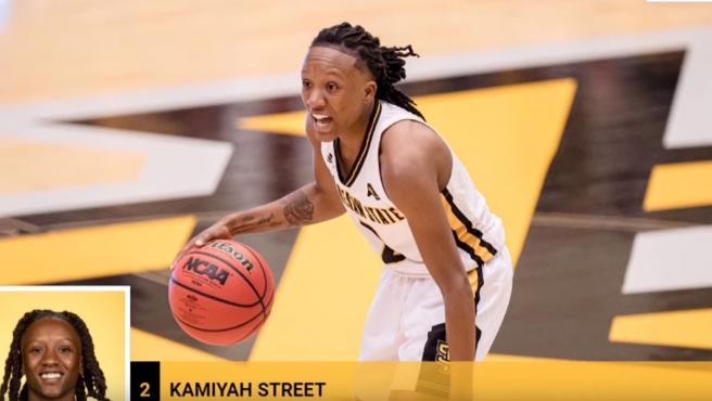 Kamiyah Street, la jugadora detenida por asesinato.