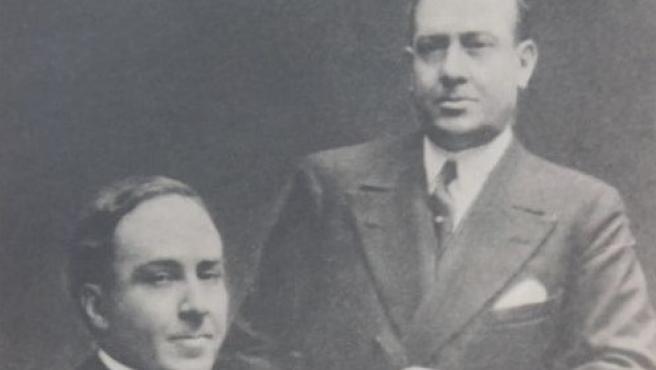 Manuel y Antonio Machado en una de las fotos que podrán verse en la exposición 'Los Machado' del Instituto Cervantes y Fundación Unicaja.