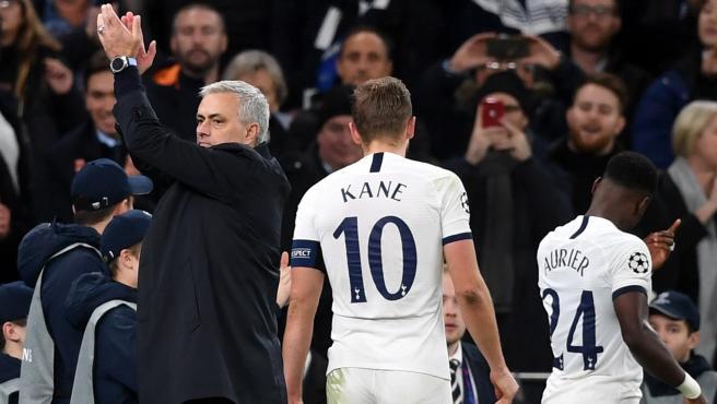 Jose Mourinho, durante un partido con el Tottenham.
