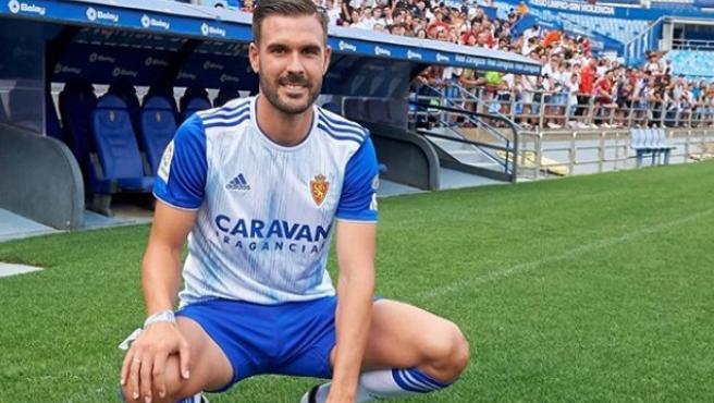 Pichu Atienza, en su presentación con el Real Zaragoza