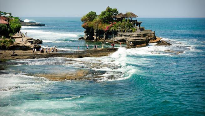 Un complejo turístico en la isla de Bali (Indonesia)