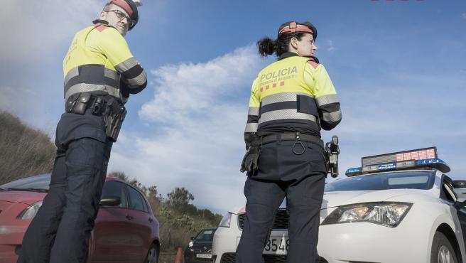 Agentes de tráfico de los Mossos d'Esquadra.