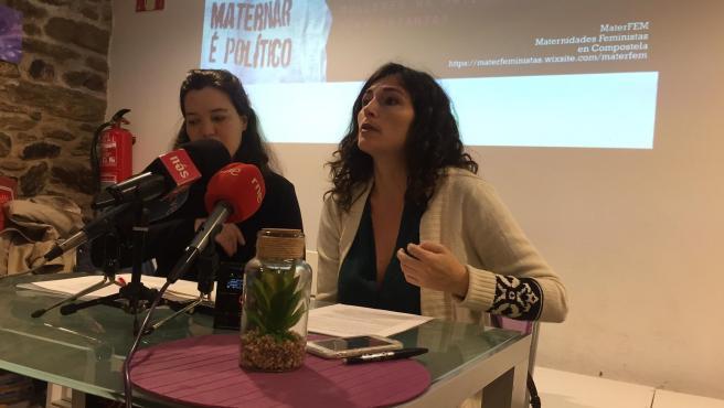 Comba Campoy y Sabela Losada presentan el estudio que realizará Maternidades Feministas