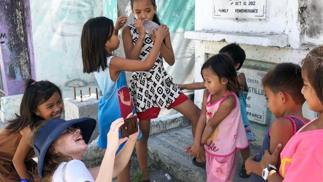 Cristina Maruri en Manila