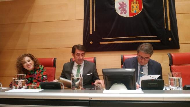 El consejero de Fomento, en su comparecencia en las Cortes para hacer balance de la campaña de Incendios 2019.