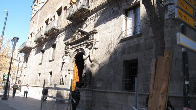 Fachada Del Tribunal Superior De Justicia De Aragón (TSJA) En Zaragoza