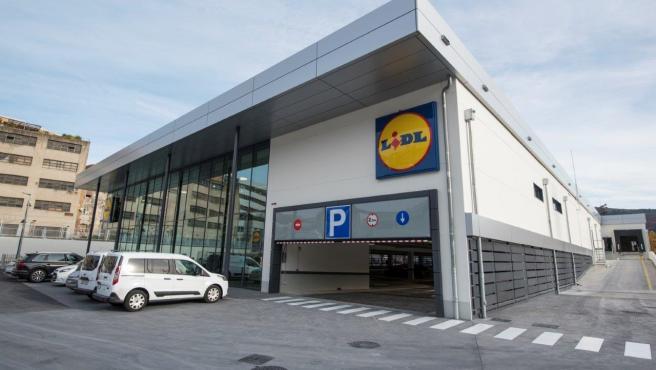Imagen de la nueva tiena urbana de Lidl en Bilbao