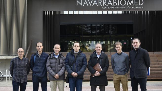Jorge Marín (Navarrabiomed); Juan Pablo Martínez (CHN); Gonzalo Etayo (Nasertic); Jorge Jiménez (Nasertic); Roberto Clerigué (iTracasa); Mikel Galar (UPNA) y Carlos Aranda (iTracasa)