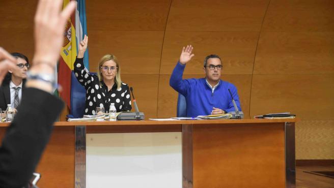 La alcaldesa de Fuengirola, Ana Mula, en el pleno