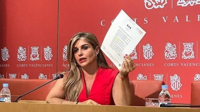 La secretària general del Partit Popular de la Comunitat Valenciana (PPCV), Eva Ortiz, en una imatge d'arxiu