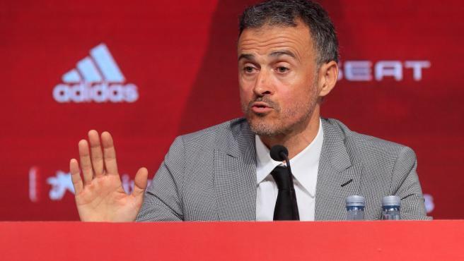 Luis Enrique, presentado de nuevo como seleccionador nacional.