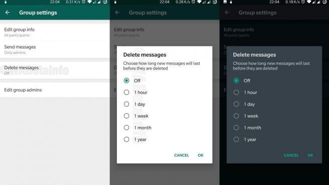 WhatsApp incluye en su última beta la función de programar mensajes que se autodestruyen