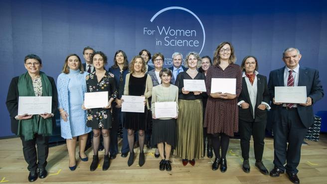 Premiadas de los 14 Premios L'Oréal-Unesco For Women in Science.