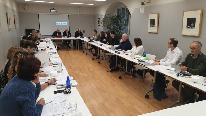 Reunión del Consejo Escolar de Navarra.