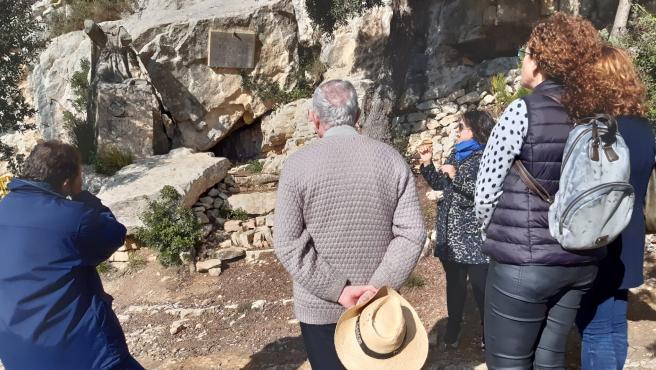 Visita institucional a la Cova de Ramon Llull en Randa.