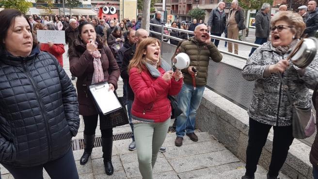 Cacerolada organizada por la Plataforma Ciudadana por el Futuro de Puertollano