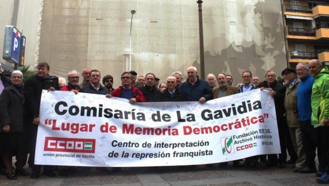 Concentración de CCOO en la Gavidia