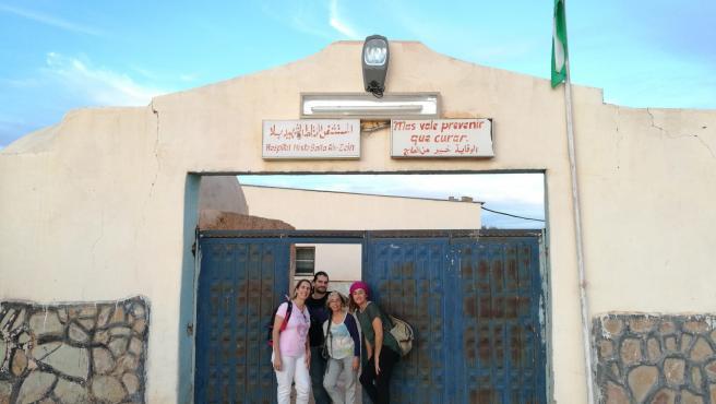 Delegación de Baleares estos días en un campamento saharaui.