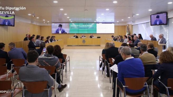 Imagen del pleno de la Diputación de Sevilla de este mes de noviembre