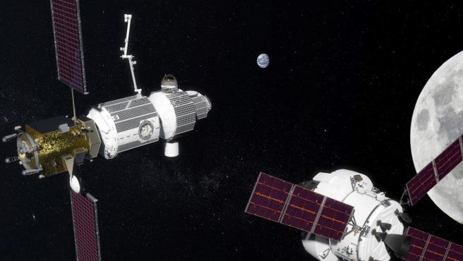 Imagen que ilustra la futura estación Deep Space Gateway.