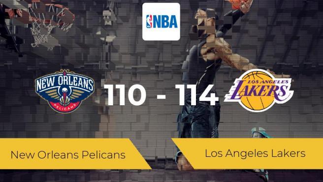 Los Angeles Lakers se impone a New Orleans Pelicans por 110-114
