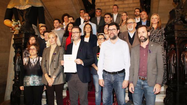 PSIB, MÉS per Palma, Unidas Podemos, PP y Cs firman en Cort una moción con motivo del 25N