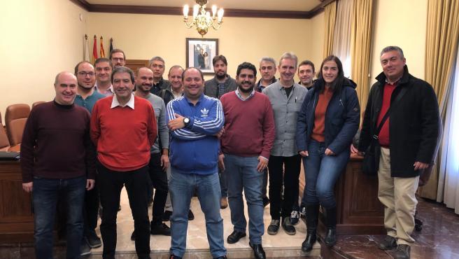 Reunión del diputado delegado de Cultura de la DPT, Diego Piñeiro, con representantes de las bandas de música de la provincia.