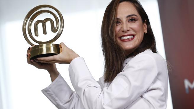 Tamara Falcó, durante la presentación de su premio como ganadora de 'Masterchef Celebrity 4'.