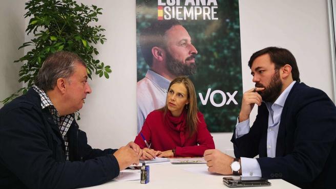 Vox con los comerciantes de Los Bermejales