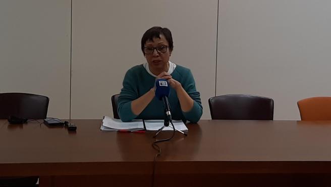 Yolanda Huergo, portavoz de Podemos-Equo Xixón en el Ayuntamiento de Gijón