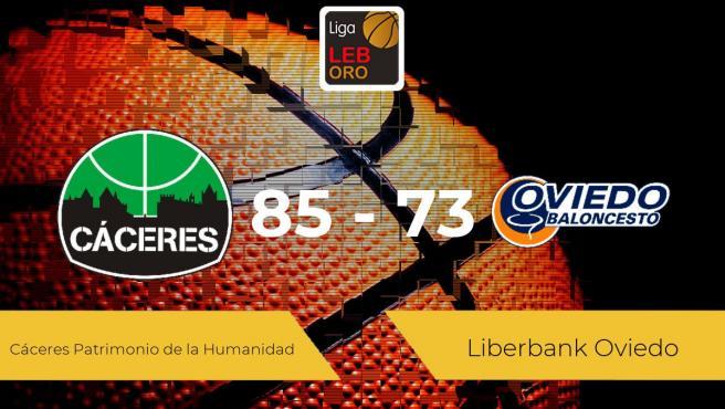 El Cáceres Patrimonio de la Humanidad se lleva la victoria frente al Liberbank Oviedo por 85-73