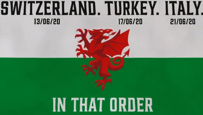 Los rivales de Gales para la Euro 2020.