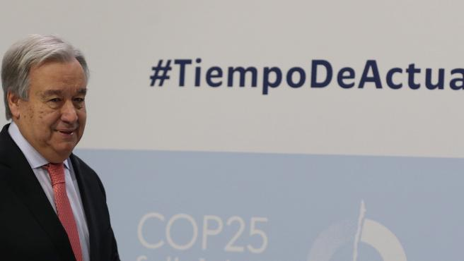 El Secretario general de Naciones Unidas, el portugués Antonio Guterres