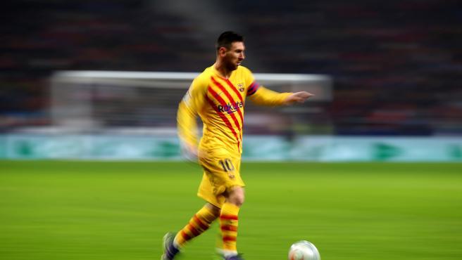 Leo Messi, durante el partido del Barça contra el Atlético